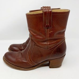 Leather Frye Jane Trapunto Boots 76400 Size 8